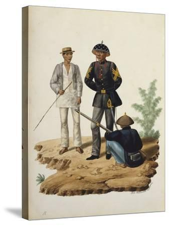 Manila and it's Environs: Officers of the Civil Guard-Jose Honorato Lozano-Stretched Canvas Print