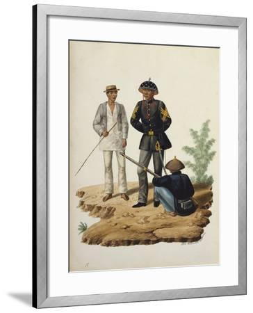 Manila and it's Environs: Officers of the Civil Guard-Jose Honorato Lozano-Framed Giclee Print