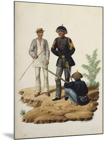Manila and it's Environs: Officers of the Civil Guard-Jose Honorato Lozano-Mounted Giclee Print