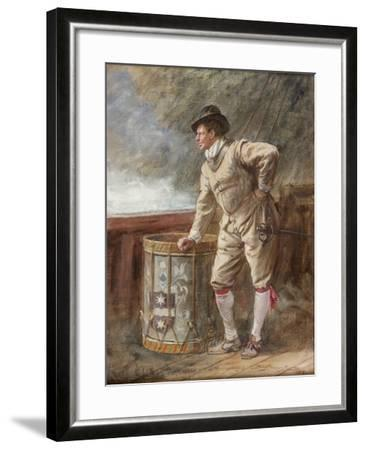 The Drum Watch, 1916-John Seymour Lucas-Framed Giclee Print