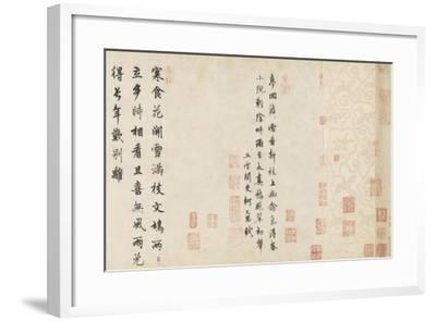 Doves and Pear Blossoms after the Rain-Qian Xuan-Framed Giclee Print