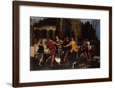 An Arcadian Idyll, 1879-Hans Sandreuter-Framed Giclee Print