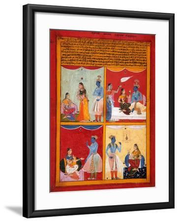 Four Types of Lovers, 1630-1640-Shah ud Din-Framed Giclee Print