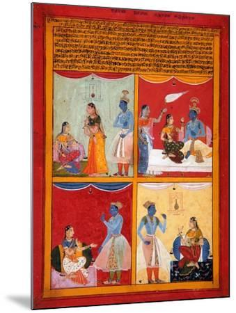 Four Types of Lovers, 1630-1640-Shah ud Din-Mounted Giclee Print