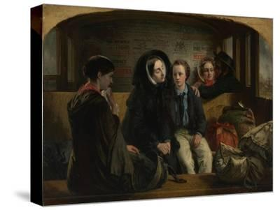 Second Class - the Parting, 1854-Abraham Solomon-Stretched Canvas Print
