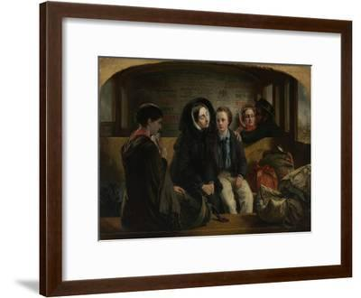 Second Class - the Parting, 1854-Abraham Solomon-Framed Giclee Print
