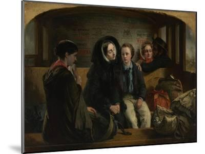 Second Class - the Parting, 1854-Abraham Solomon-Mounted Giclee Print