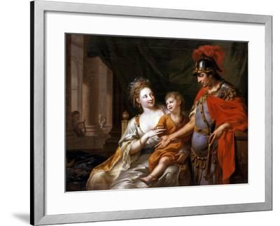 Hectors Departure, 1776-Johann Heinrich Wilhelm Tischbein-Framed Giclee Print