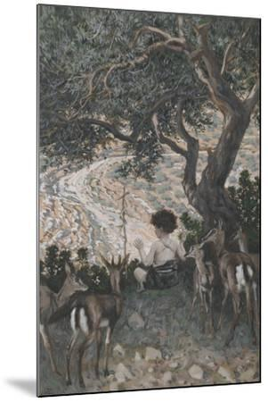 The Childhood of Saint John the Baptist from 'The Life of Our Lord Jesus Christ'-James Jacques Joseph Tissot-Mounted Giclee Print
