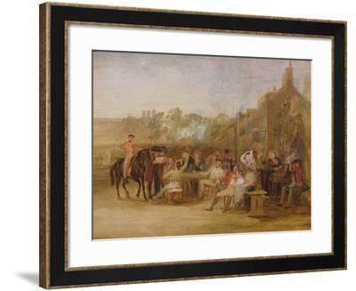 Study for 'Chelsea Pensioners Reading the Waterloo Dispatch', 1822-Sir David Wilkie-Framed Giclee Print