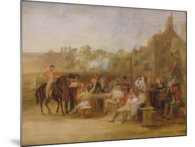 Study for 'Chelsea Pensioners Reading the Waterloo Dispatch', 1822-Sir David Wilkie-Mounted Giclee Print