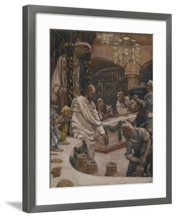 The Marriage at Cana from 'The Life of Our Lord Jesus Christ'-James Jacques Joseph Tissot-Framed Giclee Print