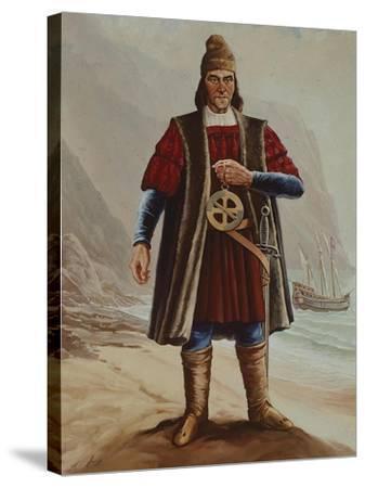 Portrait of Bartolomeu Dias, Cartographer and Navigator--Stretched Canvas Print