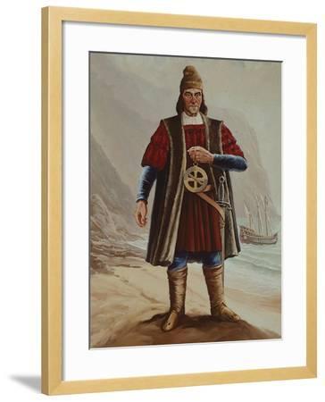 Portrait of Bartolomeu Dias, Cartographer and Navigator--Framed Giclee Print