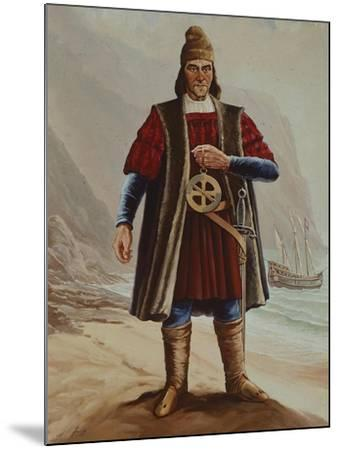 Portrait of Bartolomeu Dias, Cartographer and Navigator--Mounted Giclee Print