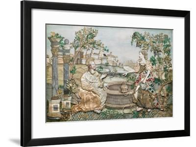 Jesus with the Woman of Samaria--Framed Giclee Print