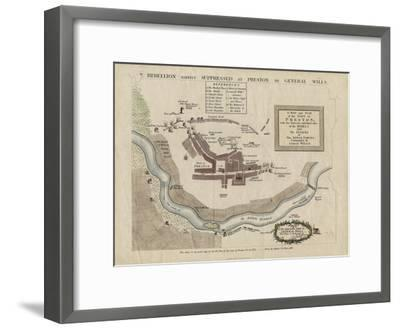 Map of the Battle of Preston of 1715, 1818--Framed Giclee Print