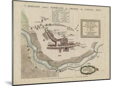 Map of the Battle of Preston of 1715, 1818--Mounted Giclee Print