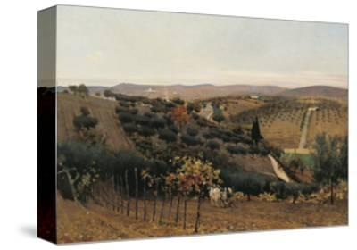 Italy, Autumn in the Countryside of Siena--Stretched Canvas Print