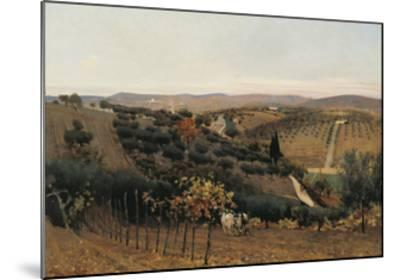 Italy, Autumn in the Countryside of Siena--Mounted Giclee Print