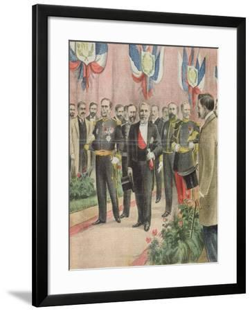 The Arrival of President Loubet in Russia for a State Visit, Cover of 'Le Petit Journal'--Framed Giclee Print