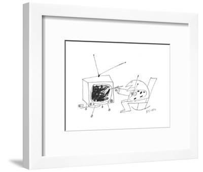 New Yorker Cartoon-Saul Steinberg-Framed Premium Giclee Print