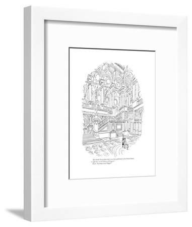 """""""Just think! Every book that's ever been published in the United States is?"""" - New Yorker Cartoon-Charles E. Martin-Framed Premium Giclee Print"""