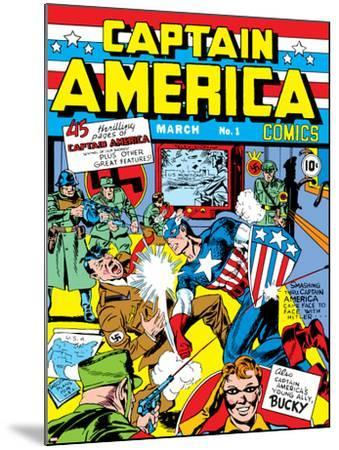 Captain America Comics No.1 Cover: Captain America, Hitler and Adolf-Jack Kirby-Mounted Poster