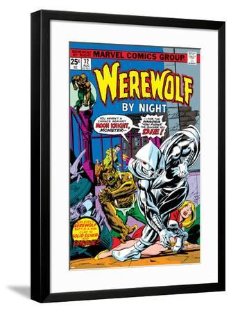 Werewolf By Night No.32 Cover: Moon Knight and Werewolf By Night-Don Perlin-Framed Poster