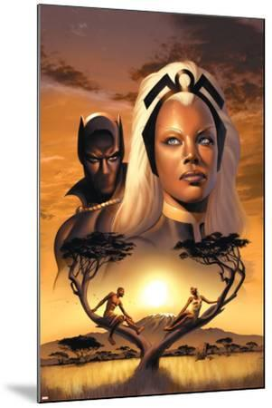 Storm No.1 Cover: Storm and Black Panther-David Yardin-Mounted Poster