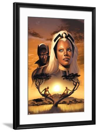 Storm No.1 Cover: Storm and Black Panther-David Yardin-Framed Poster