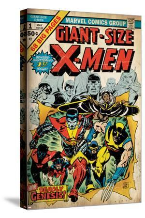 Marvel Comics Retro: The X-Men Comic Book Cover No.1 (aged)--Stretched Canvas Print