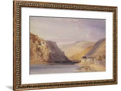 The Rhine at Assmannshausen-William Callow-Framed Giclee Print