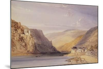 The Rhine at Assmannshausen-William Callow-Mounted Giclee Print