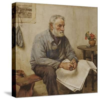 A Moment's Rest-Walter Langley-Stretched Canvas Print