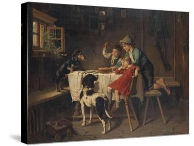 Breakfast Time-Adolf Eberle-Stretched Canvas Print