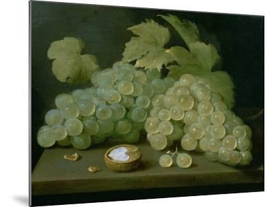 Grapes with Half a Walnut-Jacob Foppens Van Es-Mounted Giclee Print