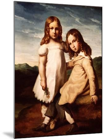 Alfred Dedreux (1810-60) as a Child with His Sister, Elisabeth, 1816-17-Theodore Gericault-Mounted Giclee Print