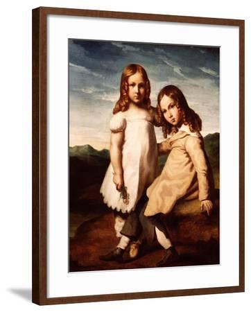 Alfred Dedreux (1810-60) as a Child with His Sister, Elisabeth, 1816-17-Theodore Gericault-Framed Giclee Print