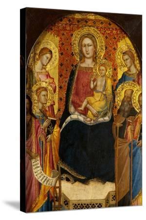 Virgin and Child with Four Saints-Lorenzo di Niccolo Gerini-Stretched Canvas Print