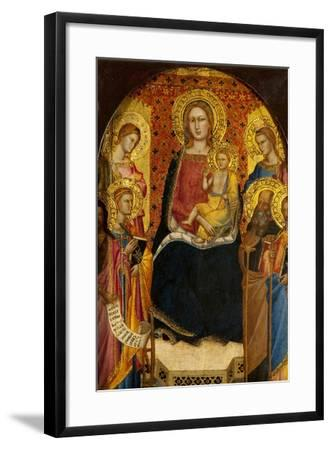 Virgin and Child with Four Saints-Lorenzo di Niccolo Gerini-Framed Giclee Print