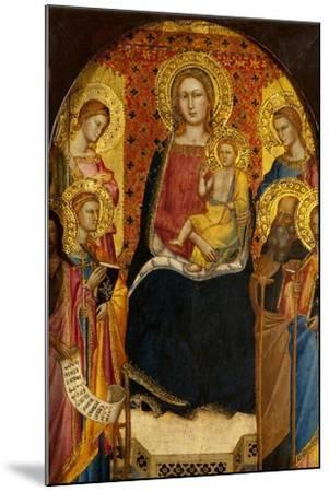 Virgin and Child with Four Saints-Lorenzo di Niccolo Gerini-Mounted Giclee Print