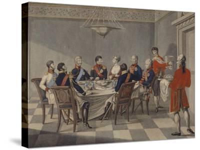 Napoleon's Round Table at Sovetsk-Johann Meno Haas-Stretched Canvas Print