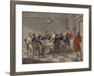 Napoleon's Round Table at Sovetsk-Johann Meno Haas-Framed Giclee Print
