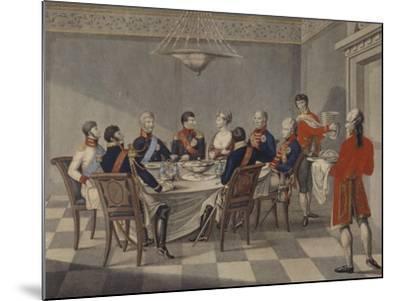 Napoleon's Round Table at Sovetsk-Johann Meno Haas-Mounted Giclee Print