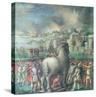 Trojan Horse-Niccolo dell' Abate-Stretched Canvas Print