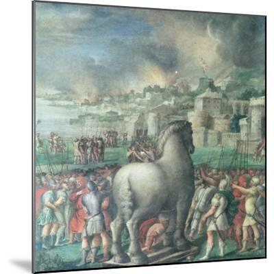Trojan Horse-Niccolo dell' Abate-Mounted Giclee Print