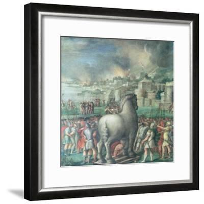 Trojan Horse-Niccolo dell' Abate-Framed Giclee Print