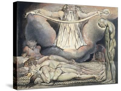 The Lazar House, 1795-William Blake-Stretched Canvas Print