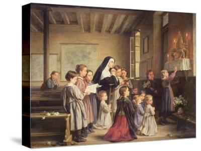 Morning Prayers-Andre Henri Dargelas-Stretched Canvas Print